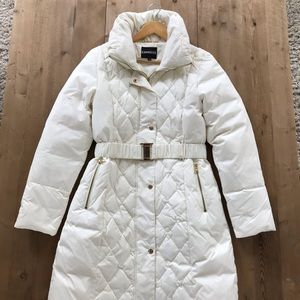 White, puffer, woman's Express snow jacket